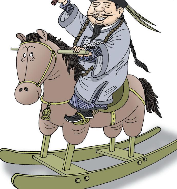 清朝统治者满族人,在还未入关时,主要以畜牧、游猎为生。所以,他们当时极其重视骑射技艺,对于骑射的根本要素马匹,更是挑选严格。因为良马大多是烈马,所以,对于难以驯服的烈马,他们尤为偏爱。他们的首领努尔哈赤、皇太极等人亦是如此,其胯下的良马大都是自己驯服的烈马。   满族人入关后,依然视骑射尚武为满洲根本先正遗风,甚至在紫禁城中立起了下马必亡碑,时刻向后代传递着如果丧失了马上的技艺,就离灭亡不远的理念。其言不可谓不重,效果也不错,清初的皇帝们,基本都称得上武林高手。但是,这样的传承并没有